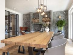 Rustiek-eiken-tafel-en-bank-Stalen-onderstel-Pim